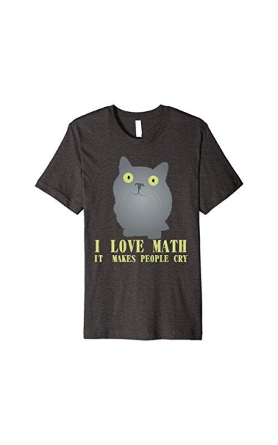 Cat Loves Math PREMIUM Tshirt