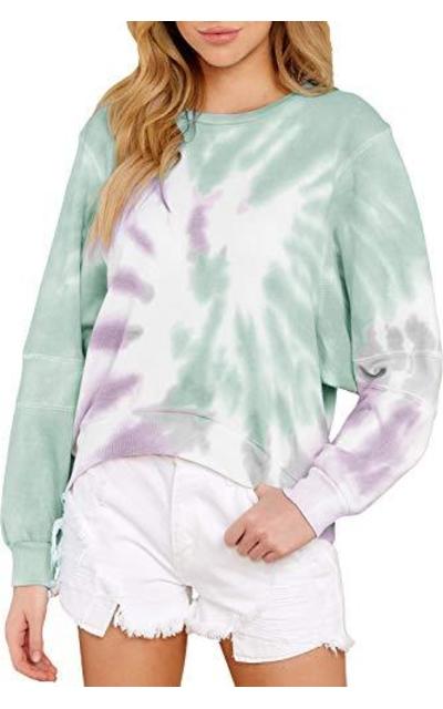 ReachMe Tie Dye Printed Sweatshirt