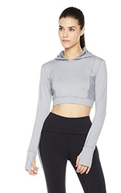 7Goals Long Sleeve Cropped Hoody with Mesh Panels