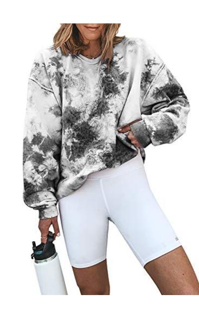 Acelitt Tie Dye Sweatshirt Pullover