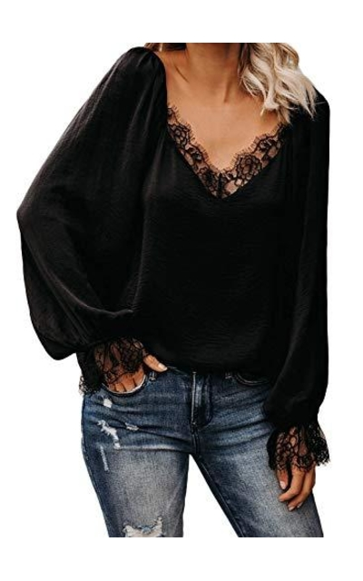 Sidefeel Satin Lace Blouse