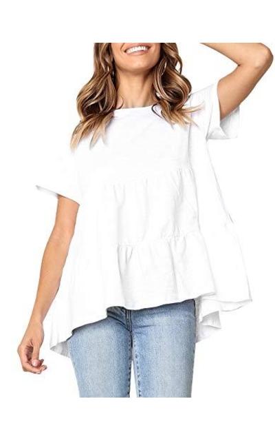 Ruffle Peplum T Shirt