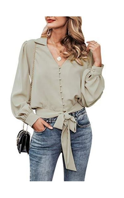 Fargeous Button Down Blouse