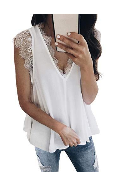 HOTAPE Lace Tank Top