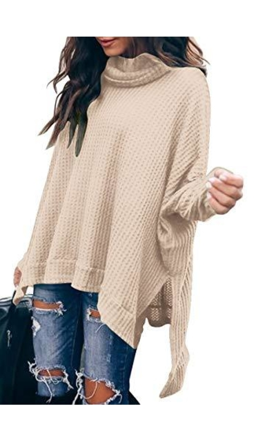 ANRABESS Oversized High Low Tunic Tops