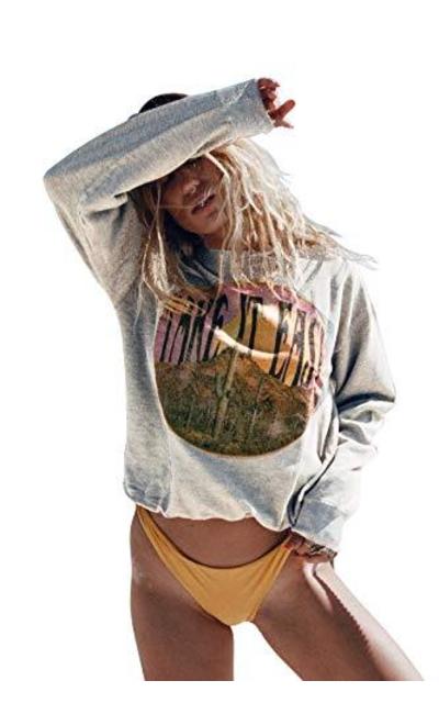 Life Clothing Co. Fashion Take It Easy Vintage Graphic Sweatshirt