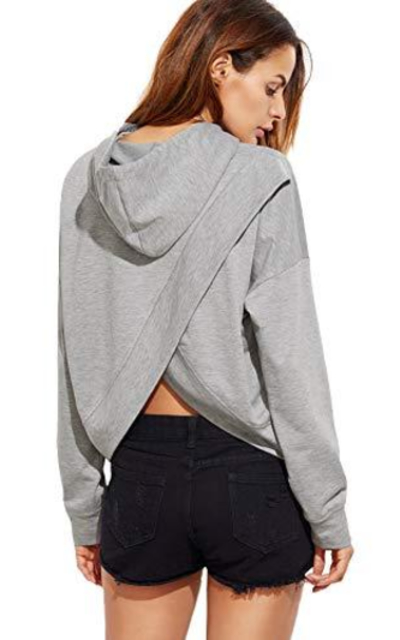 SheIn Plain Hoodie Sweatshirts