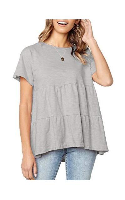 Flounce Ruffle T Shirt