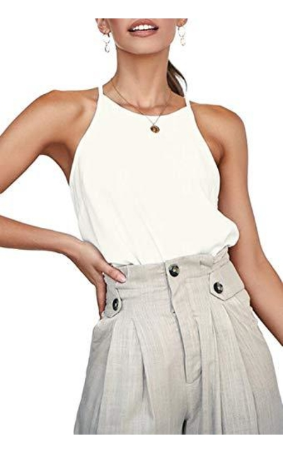 LouKeith Basic Halter Racerback Tank Top