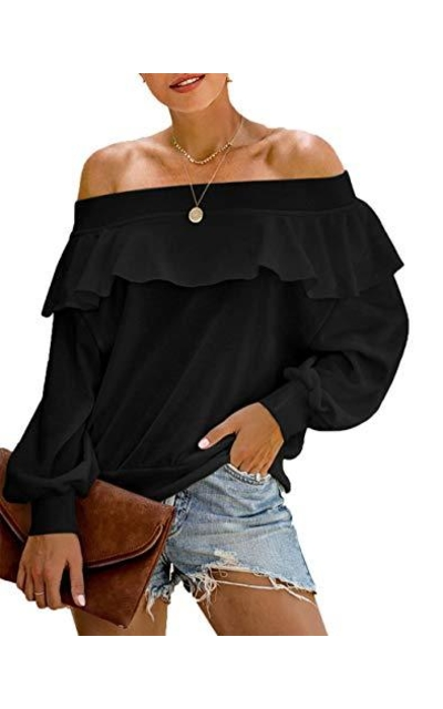PRETTYGARDEN Off The Shoulder Ruffled Top