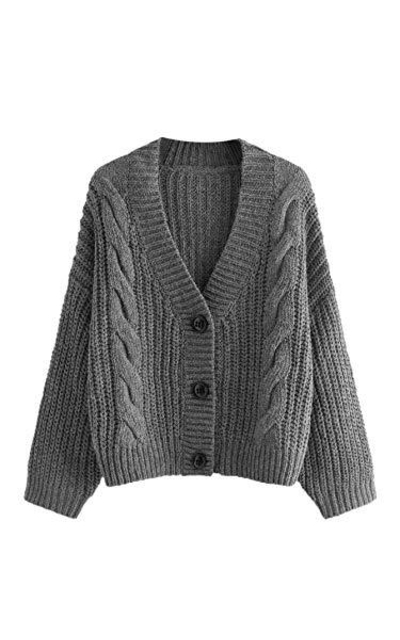 SheIn Cable Knit Cardigan Sweater