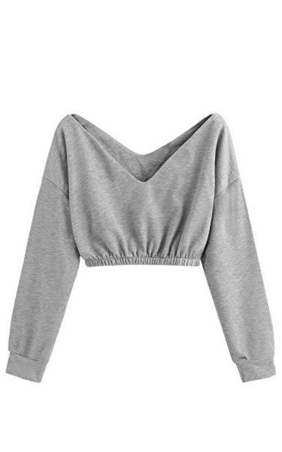 Verdusa Crop Top Sweatshirt