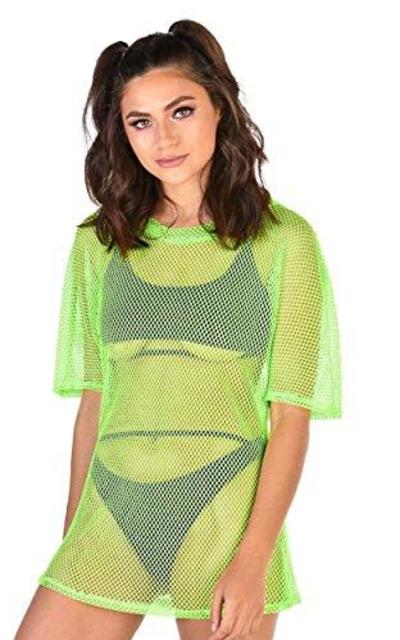 iHeartRaves Oversize Fishnet Tee Shirt