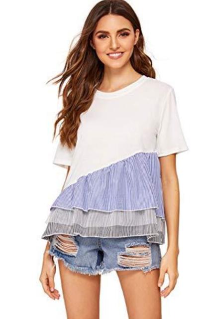 Floerns T Shirt Peplum Top