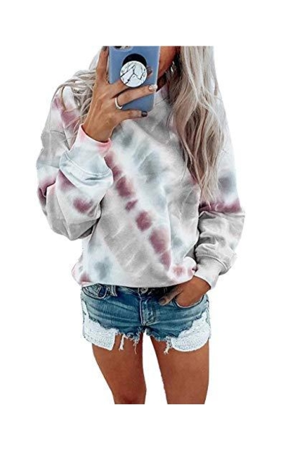 PRETTYGARDE Tie Dye Print Sweatshirt