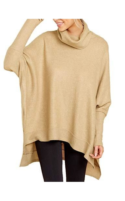 Relipop Solid Pullover Turtleneck Sweater