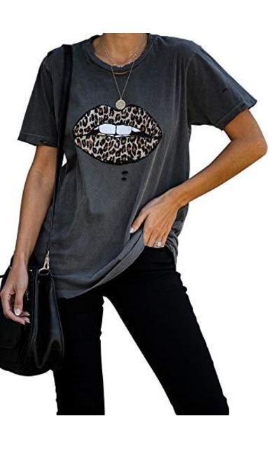 AlvaQ Leopard Print T Shirt