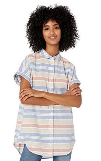 Amazon Brand - Goodthreads Washed Cotton Short-Sleeve Tunic