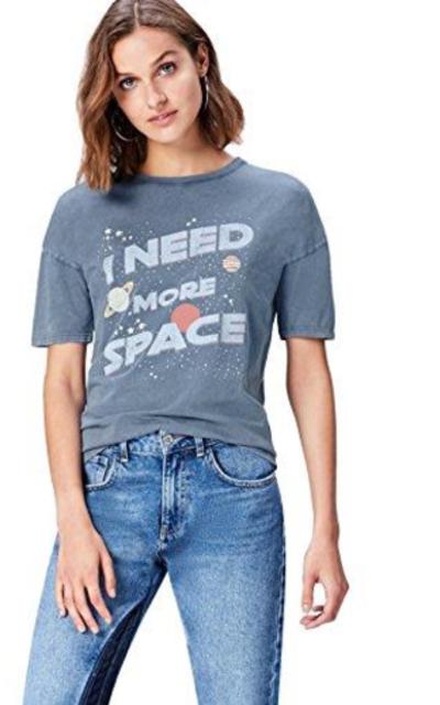find. Slogan Crew Neck T-Shirt