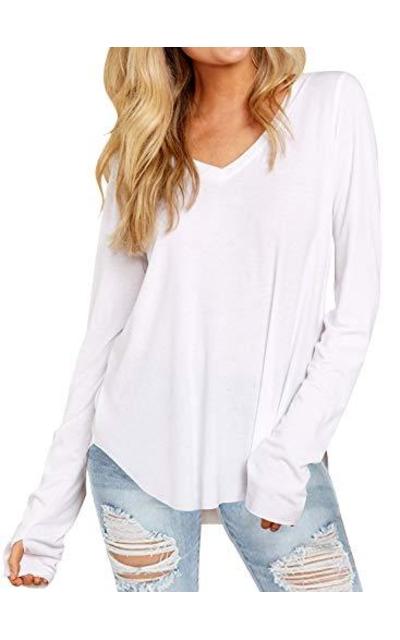 DOROSE  Plain White Tshirt