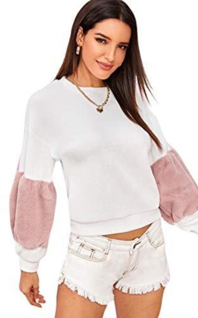 SheIn Teddy Lantern Sweatshirt