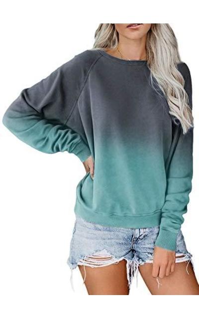 ZKESS  Tie Dye Crew Neck Sweatshirt