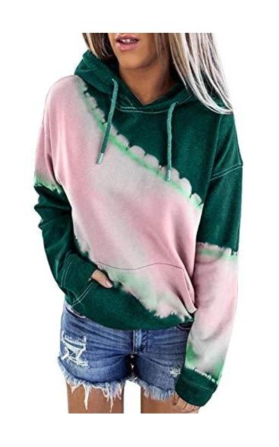 Elapsy Tie Dye Hoodies Sweatshirt