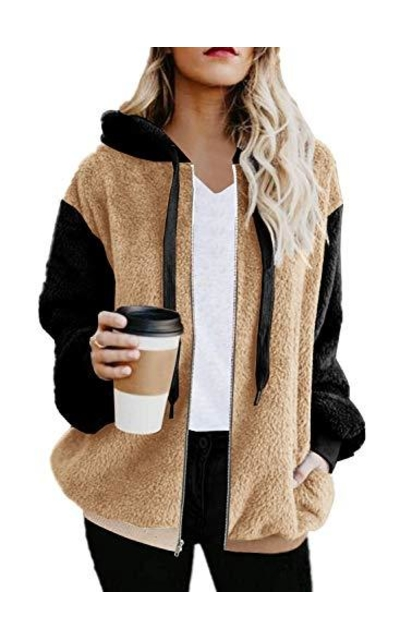 ETCYY Faux Shearling Jacket Sweatshirt