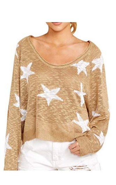 KAKALOT Star Print Pullover Sweater