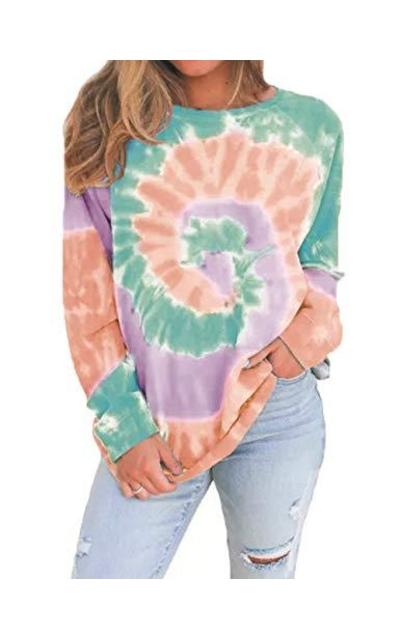 Ainiel Tie Dye Print Sweatshirt