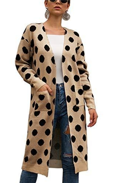 BTFBM Polka Dot Sweater Cardigan