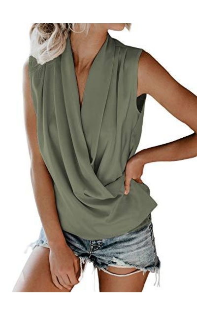 FARYSAYS Drape Tank Top