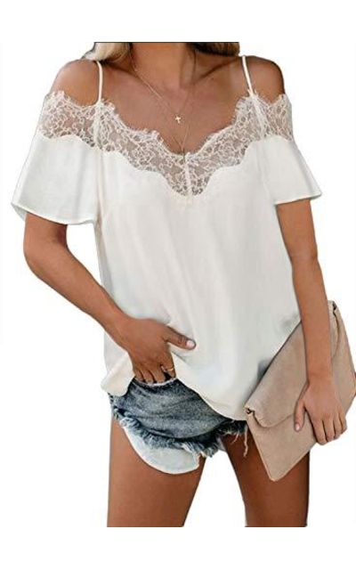Lovezesent Lace Trim Shirt