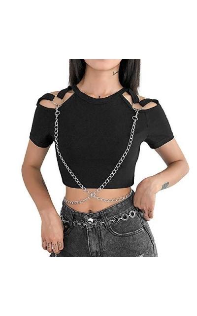 Gothic T-Shirt Chains