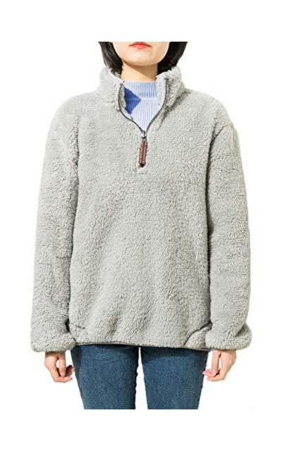 Jjyee Fleece Sherpa Pullover