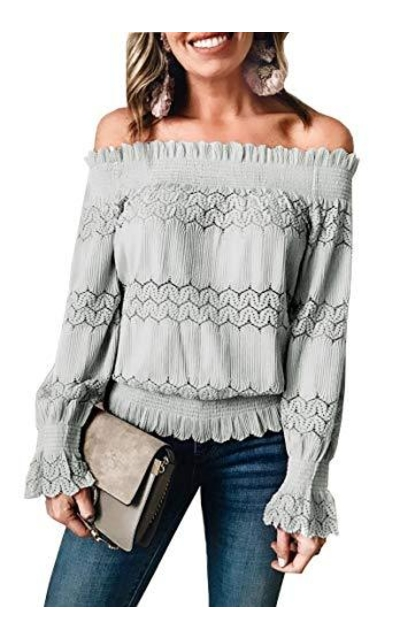Off Shoulder Hollow Out Top