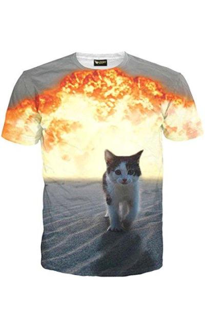 Pizoff Unisex Cat TShirt