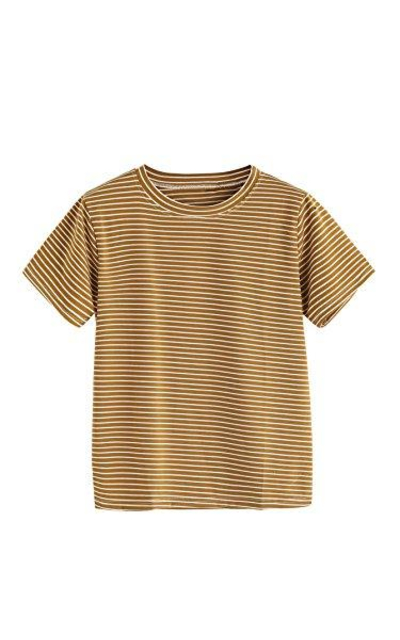 MakeMeChic  Striped T-Shirt