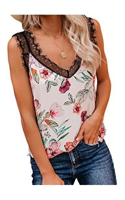 BLENCOT Floral Lace Cami