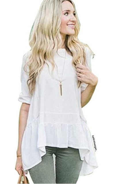 Chicwish Ruffle Loose Fit Dolly Tshirt