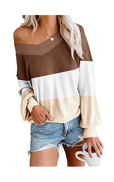 Off The Shoulder Waffle Knit Top