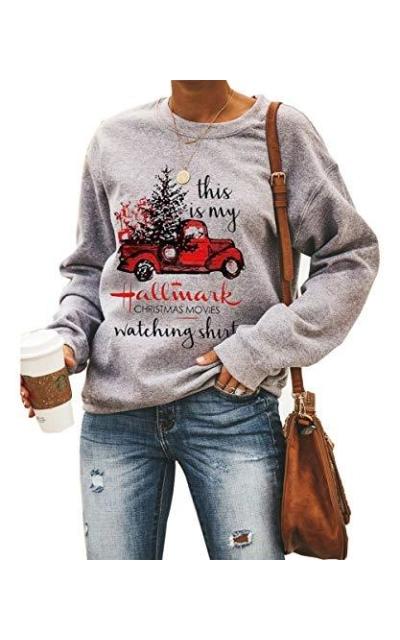 Women This is My Christmas Movies Watching Sweatshirt