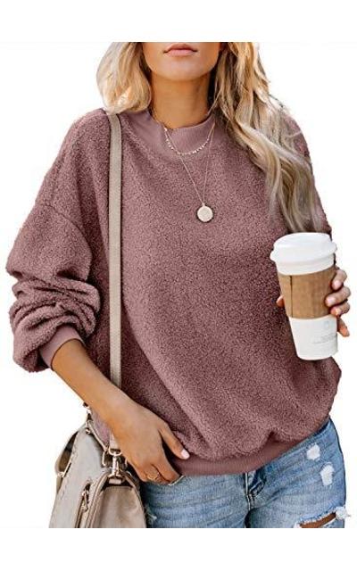 Dokotoo Fluffy Pullover Sweatshirt
