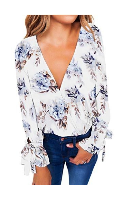 HOTAPEI Floral Printed Blouse