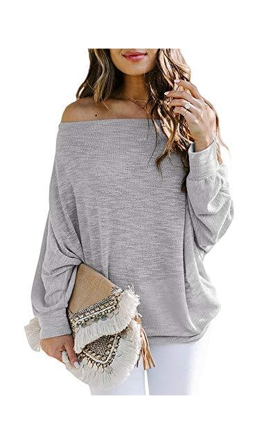Off The Shoulder Lightweight Knit Pullover Sweater