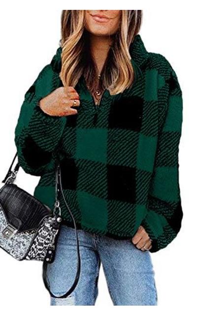 Dokotoo Sherpa Fuzzy Fleece Sweatshirt Pullover
