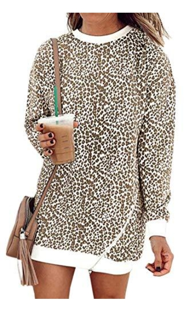 Angashion Leopard Print Sweatshirt