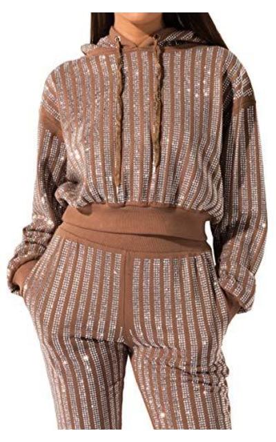 AKIRA Rhinestone Cropped Hoodie Sweatshirt