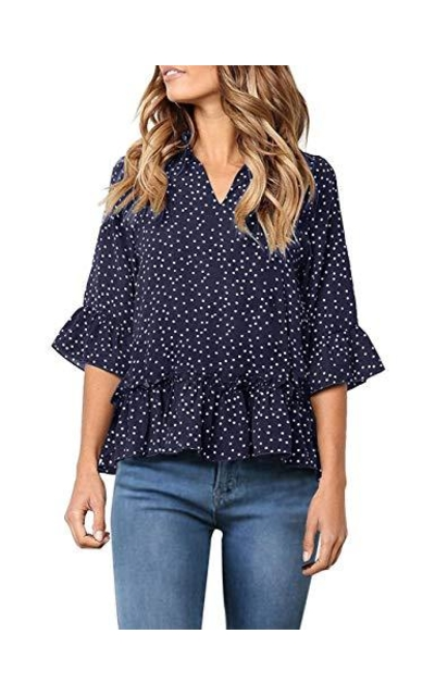 YIBOCK Polka Dot Top