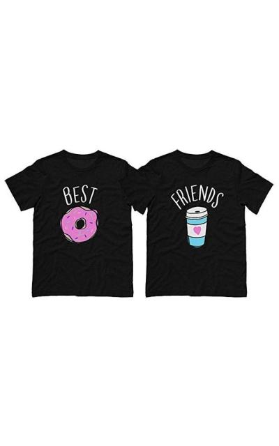 Best Friends Donut Coffee Duo Shirt